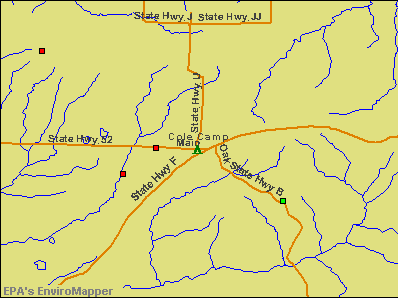 Cole Camp, Missouri environmental map by EPA