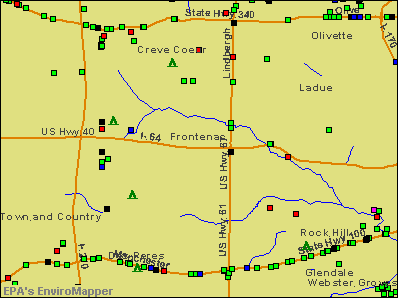 Frontenac, Missouri environmental map by EPA