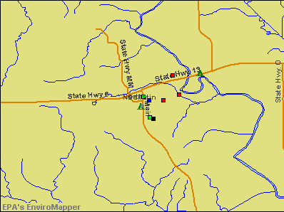 Gallatin, Missouri environmental map by EPA