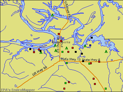 Demopolis, Alabama environmental map by EPA