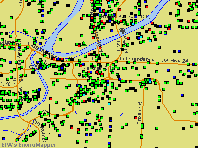 Kansas City, Missouri environmental map by EPA