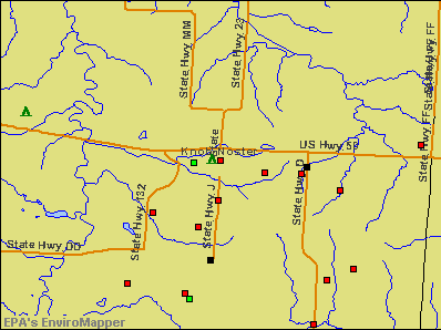 Knob Noster, Missouri environmental map by EPA