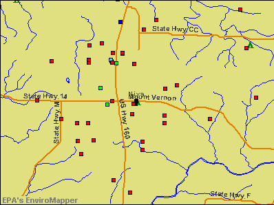 Nixa, Missouri environmental map by EPA