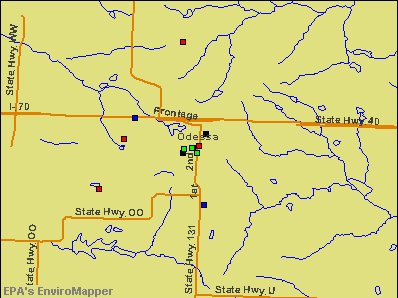 Odessa, Missouri environmental map by EPA