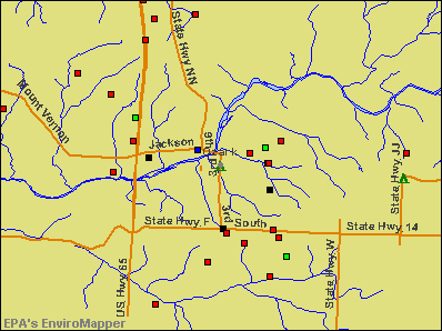 Ozark, Missouri environmental map by EPA