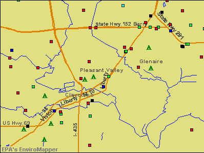 Pleasant Valley, Missouri environmental map by EPA