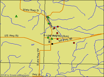 Rogersville, Missouri environmental map by EPA