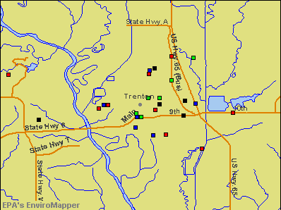 Trenton, Missouri environmental map by EPA