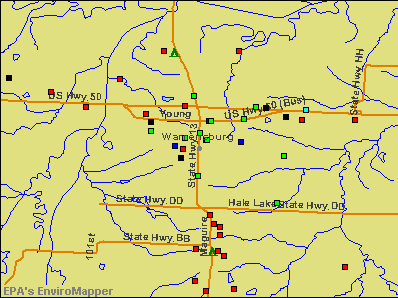 Warrensburg, Missouri environmental map by EPA