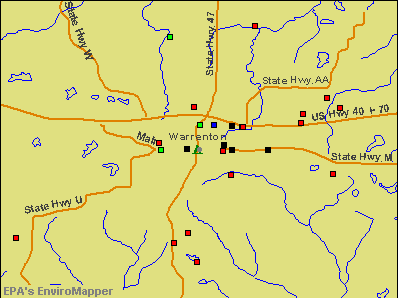 Warrenton, Missouri environmental map by EPA