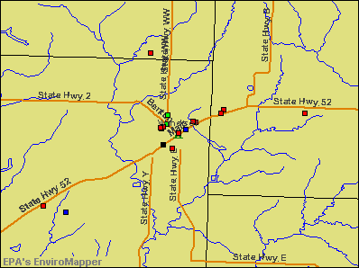 Windsor, Missouri environmental map by EPA