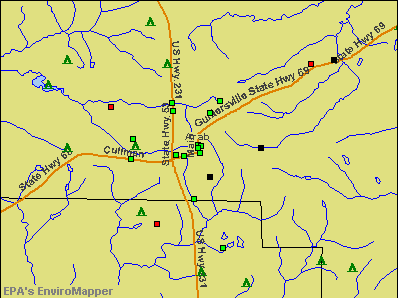 Arab, Alabama environmental map by EPA