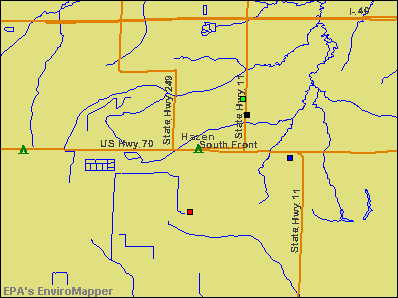 Hazen, Arkansas environmental map by EPA