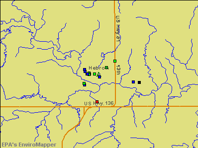 Hebron, Nebraska environmental map by EPA