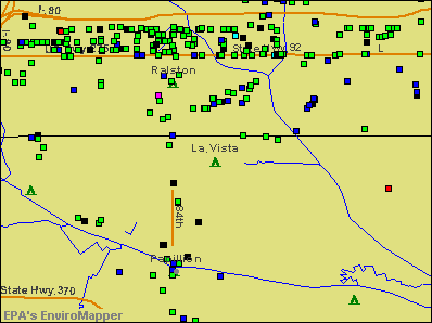 La Vista, Nebraska environmental map by EPA