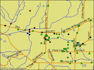 Jonesboro, Arkansas environmental map by EPA