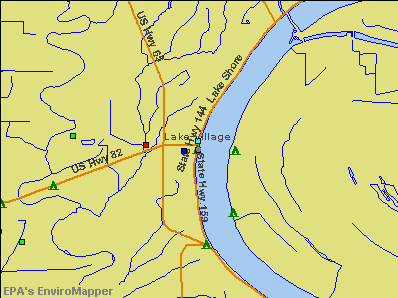 Lake Village, Arkansas environmental map by EPA