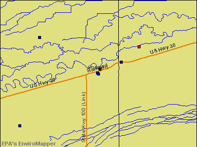 Shelton, Nebraska environmental map by EPA