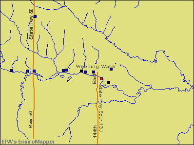 Weeping Water, Nebraska environmental map by EPA