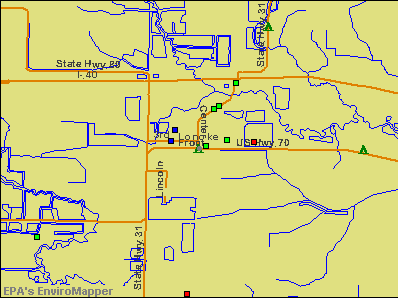 Lonoke, Arkansas environmental map by EPA