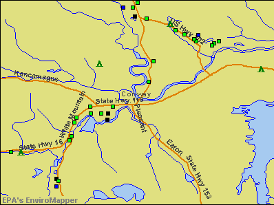 Conway, New Hampshire environmental map by EPA