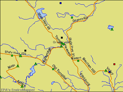 Greenville, New Hampshire environmental map by EPA