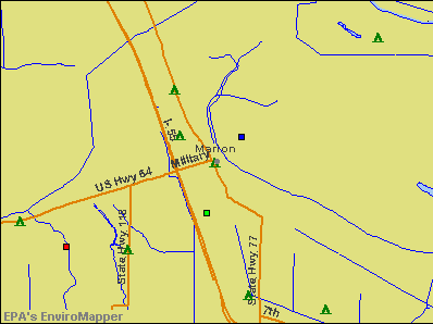 Marion, Arkansas environmental map by EPA