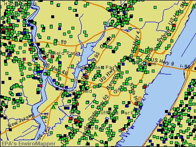 Palisades Park, New Jersey environmental map by EPA
