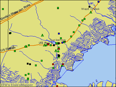 Tuckerton, New Jersey environmental map by EPA