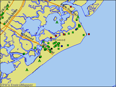 Wildwood, New Jersey environmental map by EPA