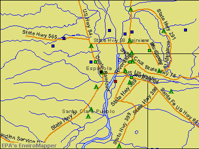 Espanola, New Mexico environmental map by EPA