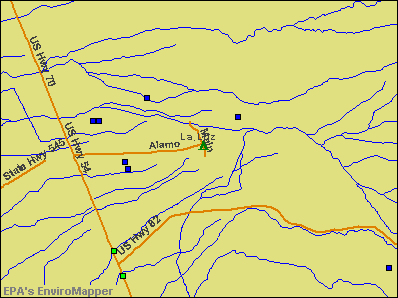 La Luz, New Mexico environmental map by EPA