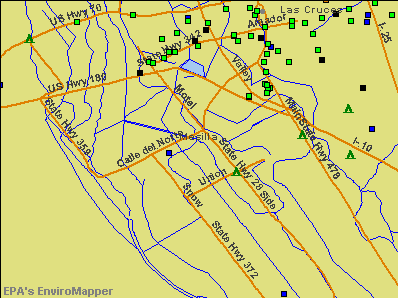 Mesilla, New Mexico environmental map by EPA