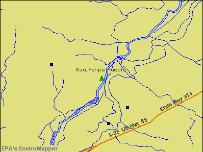 San Felipe Pueblo, New Mexico environmental map by EPA
