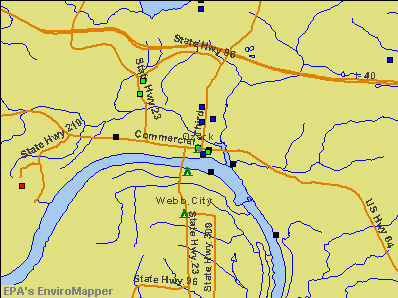 Ozark, Arkansas environmental map by EPA