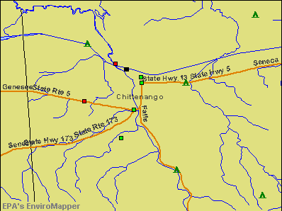 Chittenango, New York environmental map by EPA