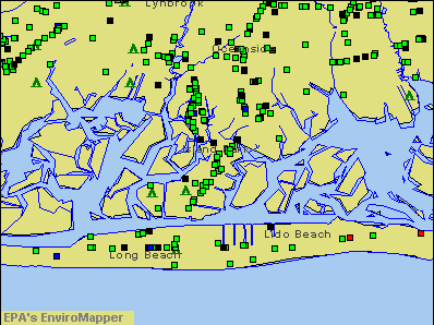 Island Park, New York environmental map by EPA