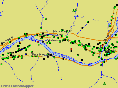 Johnson City, New York environmental map by EPA