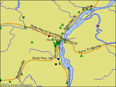 Mechanicville, New York environmental map by EPA