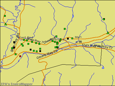 Oneonta, New York environmental map by EPA