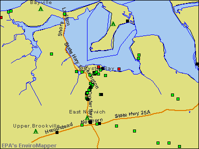 Oyster Bay, New York environmental map by EPA