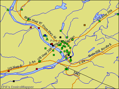Port Jervis, New York environmental map by EPA
