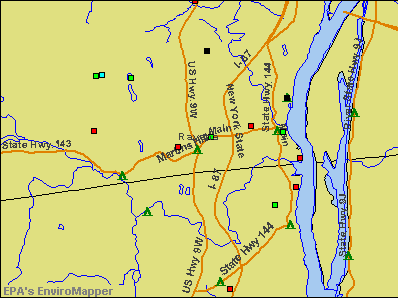 Ravena, New York environmental map by EPA