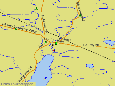 Richfield Springs, New York environmental map by EPA