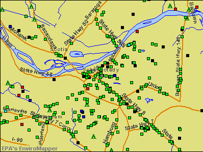 Schenectady, New York environmental map by EPA