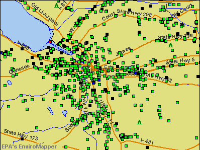Syracuse, New York environmental map by EPA