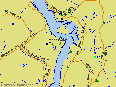 West Point, New York environmental map by EPA