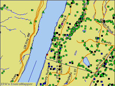 Yonkers, New York environmental map by EPA