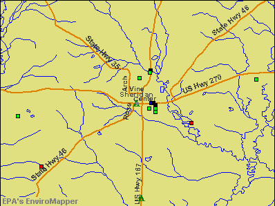 Sheridan, Arkansas environmental map by EPA