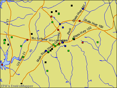 Mooresville, North Carolina environmental map by EPA